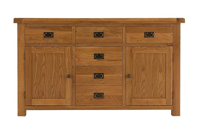 Oakwood 2 Door 6 Drawer Sideboard