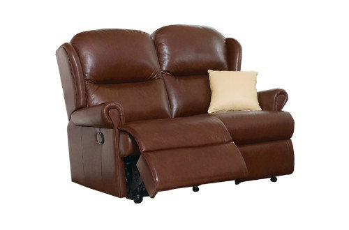 Sherborne Malvern Leather Standard 2 Seater Manual Recliner Sofa