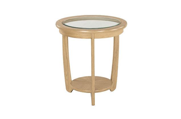 Shades Oak Round Lamp Table