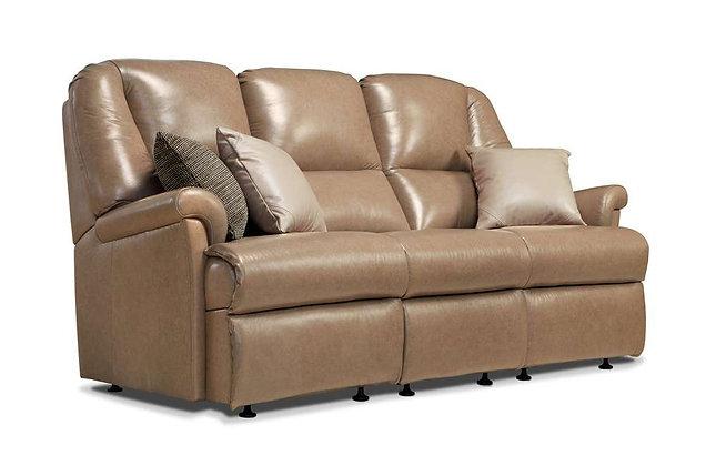 Sherborne Milburn Leather Small 3 Seater Recliner Sofa