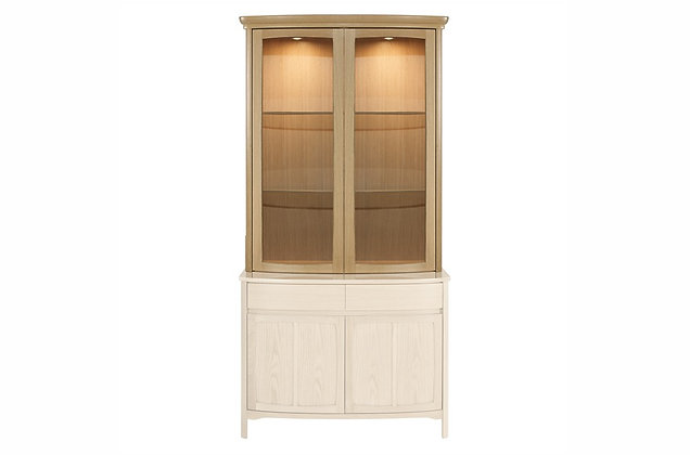 Shades Oak Shaped 2 Glass Door Display Top Unit