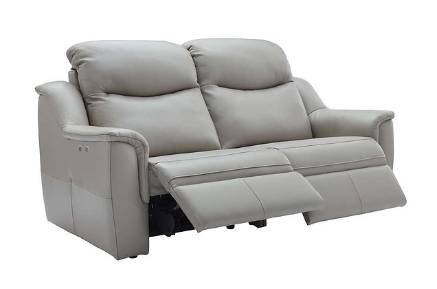 G Plan Firth Leather 3 Seater Double Power Recliner