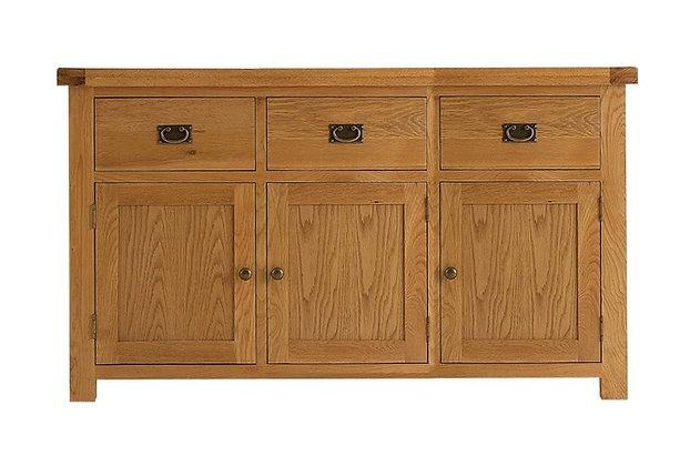 Oakwood 3 Drawer Sideboard