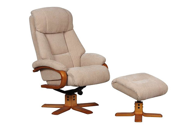 Nice Swivel Recliner Chair & Footstool