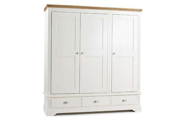 Kensington 3 Door, 3 Drawer Wardrobe