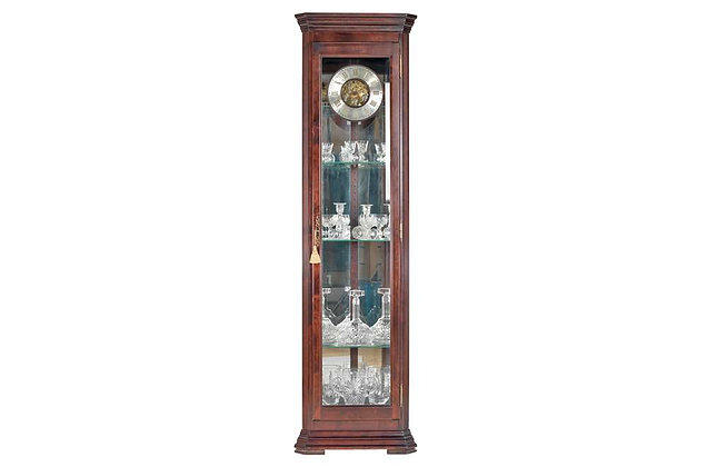 Amber - Long Case Curio Corner Clock