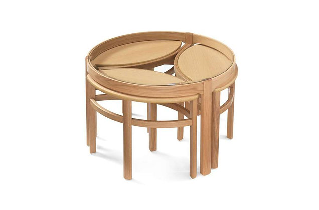 Shades Oak Trinity Nest of Tables