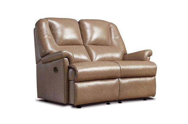 Sherborne Milburn Leather Small 2 Seater Recliner Sofa