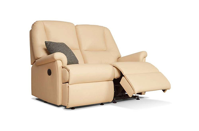 Sherborne Milburn Leather Petite 2 Seater Recliner Sofa