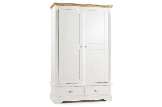 Kensington Wide 2 Door, 2 Drawer Wardrobe