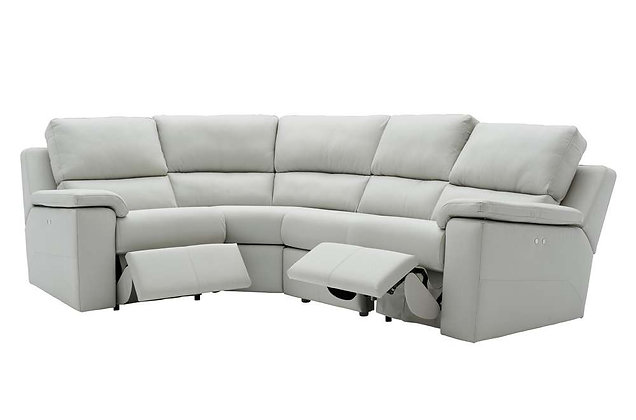 G Plan Taylor Leather RHF Corner Power Recliner Sofa