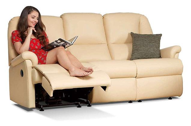 Sherborne Milburn Leather Standard 3 Seater Recliner Sofa