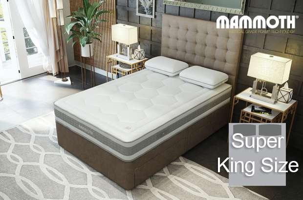 Mammoth Shine Essential Medium Pocket Super King Size Divan Bed