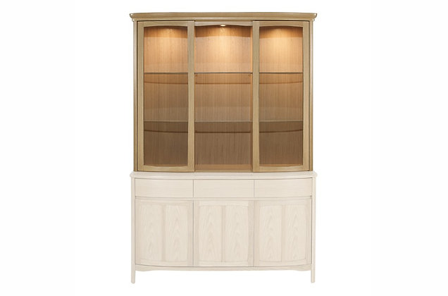 Shades Oak Shaped Glass Door Display Top Unit