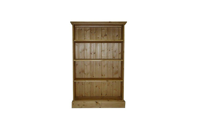 Somerset Pine 3 Shelf Deep Bookcase