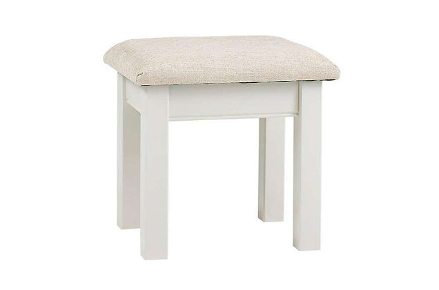 Kensington Stool with Beige Seat Pad
