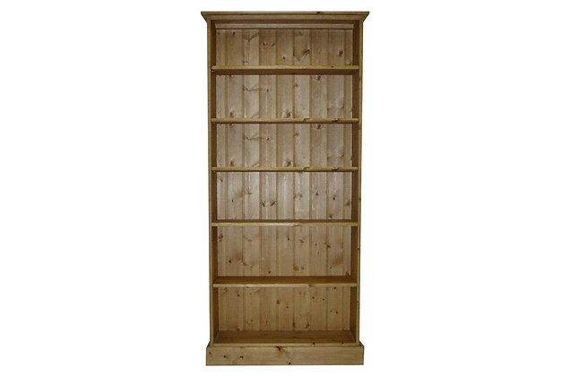 Somerset Pine 5 Shelf Deep Bookcase