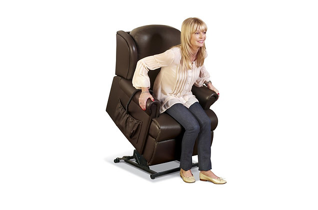 Sherborne Malvern Leather Petite Lift & Rise Care Recliner Chair