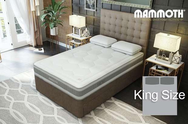 Mammoth Shine Essential Medium Pocket King Size Divan Bed