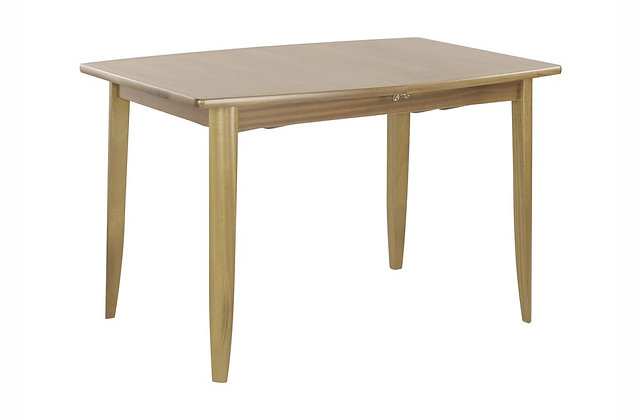Shades Oak Small Extending Boat Shaped Dining Tables on Legs