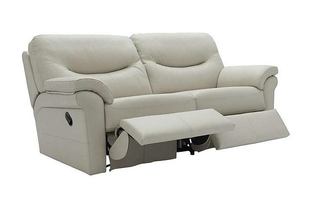 G Plan Washington Leather 3 Seater Double Recliner Sofa