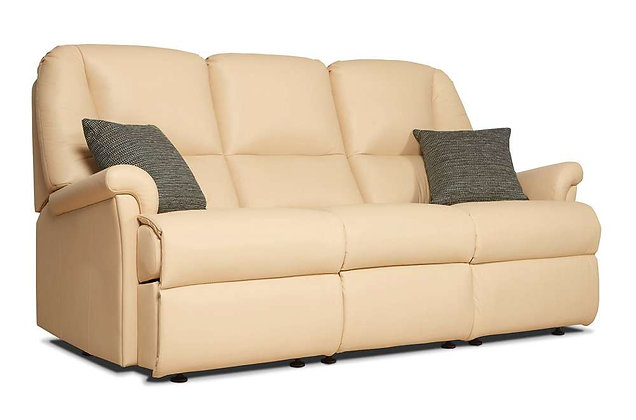 Sherborne Milburn Leather Standard 3 Seater Sofa