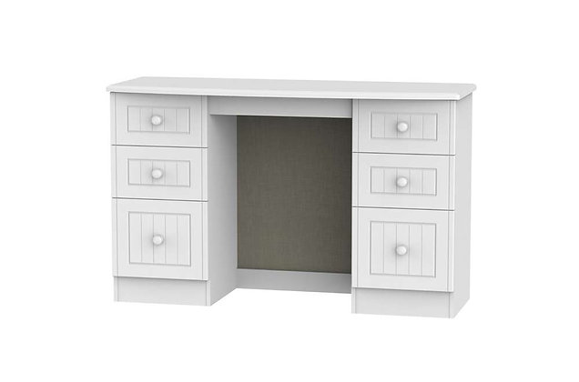 Welcome Bedroom Warwick 6 Drawer Kneehole Dressing Table