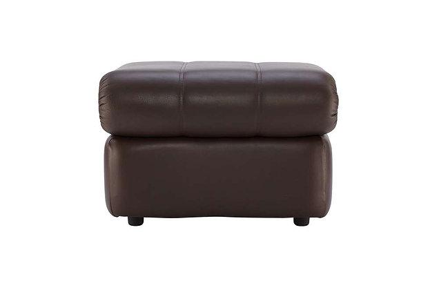G Plan Chloe Leather Storage Footstool
