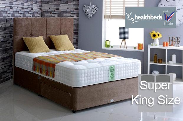 Healthbeds Ultimate Natural 2000 Super King Size Divan Bed
