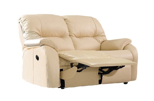 G Plan Mistral Leather Left Hand Facing Single Power 2 Seater Recliner Sofa