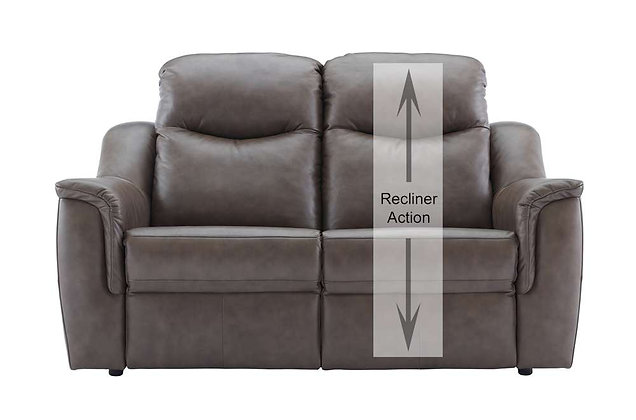 G Plan Firth Leather 2 Seater Single Power Recliner (Right Hand Facing)