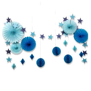 Décoration de salle bleue