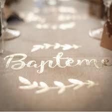 Chemin de table baptême