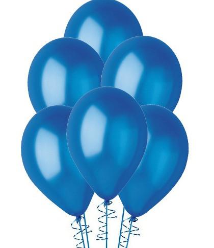 Ballon latex bleu