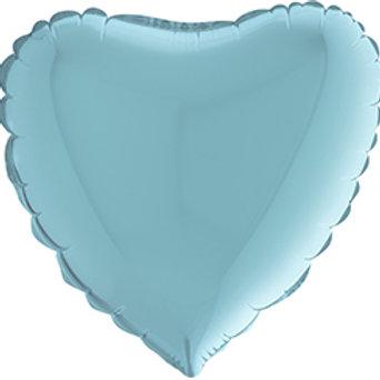 Ballon message coeur - bleu ciel