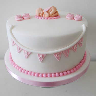 Gâteau baby shower fille