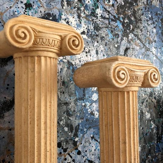Ionic Pillar Candle Holder