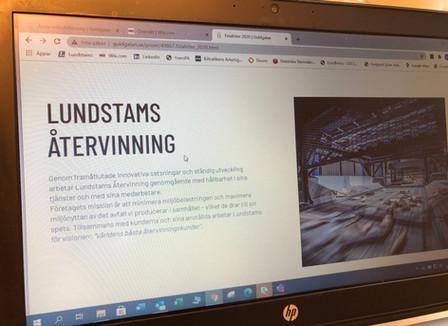 """""""Årets Hållbara Företag"""" i Jämtland/Härjedalen - Lundstams är en av tre Finalister !"""