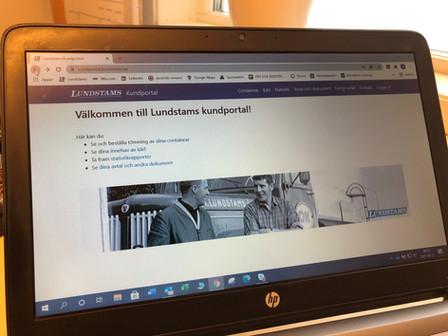 Lundstams Kundportal är nu igång !