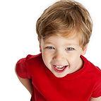 طفل جميل يضحك