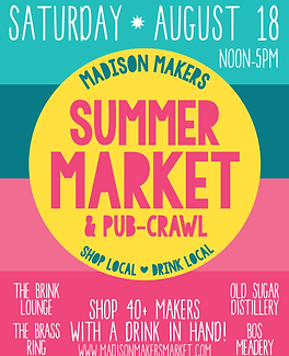 Madison Makers Summer Market & Pub-Crawl
