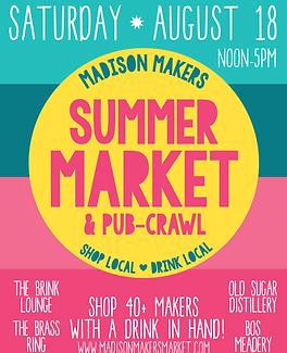 Madison Makers Summer Market & Pub-Crawl