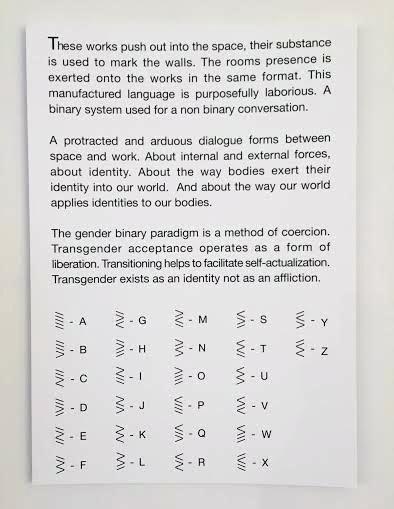Artist Statement & Binary Code