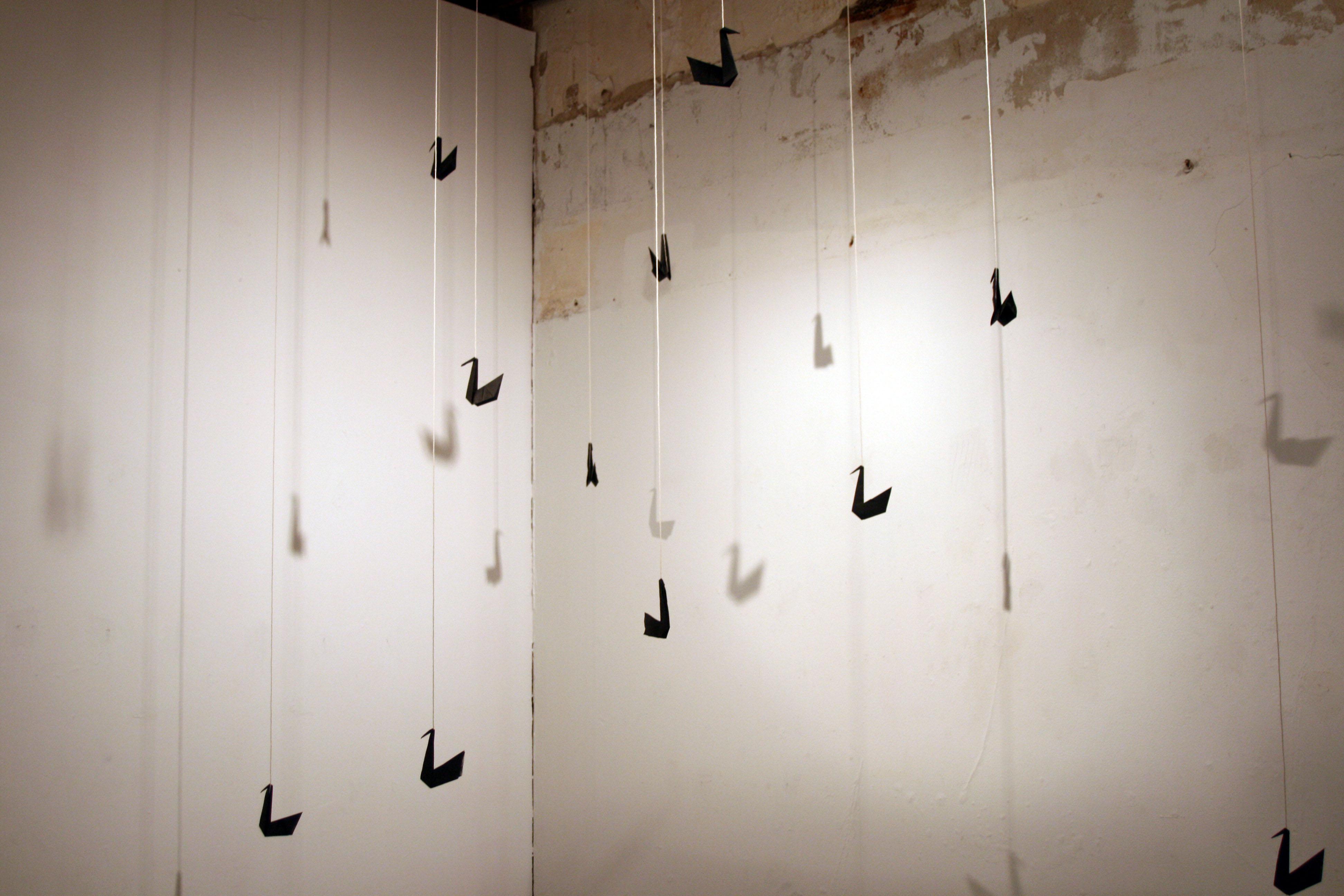 hanging swans