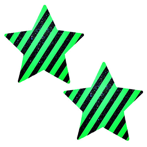 Green Stripe Blue Glitter Seahawks Starry Nights Nipzitx Pasties