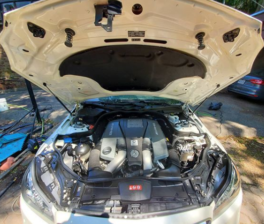 Rare E63s AMG Wagon - Engine Wash