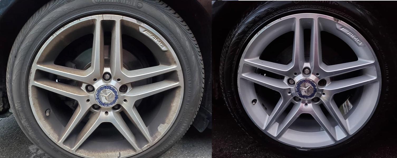 Wheel cleaning - Mercedes Benz C350