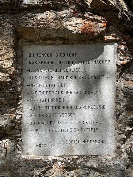 Stèle Nietzsche Chasté
