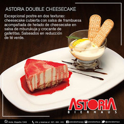 astoria double cheesecake