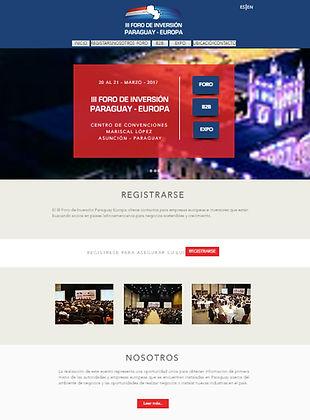 diseño web de evento internacional